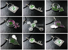 FREE SHIPPING wholesale Lots 14 PCS Real Four Leaf Clover lucky Mini St Patrick mix Style Beauty sexy Pendant(China)