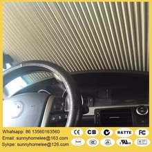 Free shipping Spring retractable car sun shade curtain blind,UV resistance,blackout,double layer honeycomb fabric