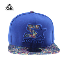 High Quality hip hop cap Men Fashion Starter Embroidery Cotton Blue Snapback Bone Baseball Cap dad hat hats for men Women gorra(China)