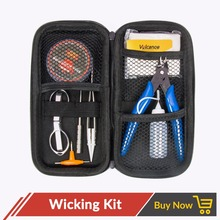 Volcanee Coil jig Tools Master DIY Kit For E Cig X6 Bag+Plier+ A1 winding Heating Wire +Ceramic Tweezer+Coil Jig+Scissors+Cotton