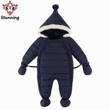 0-18M Winter Baby Rompers 2017 New Design Boys&Girls Warm Cotton Clothes Toddler Infant Down Jacket Outerwear Newborn Wear
