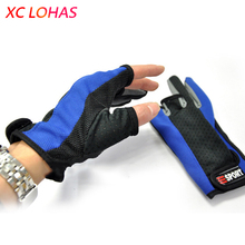 Hot Sale Anti Slip Fishing Gloves Breathable 3 Half-fingers Mittens Gloves Fishing Tackle Accesssories Low Price Random Color