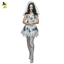 2017 Adult Sexy Hot Brige Costume Halloween Zombie Corpse Scary Bride Fancy Dress  Costumes For Cosplay