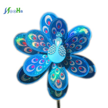 Multicolor Peacock Windmill Diy Outdoor Decorative Wholesale Manufacturers Selling Children Plastic Toys Laser Double Sequin(China)