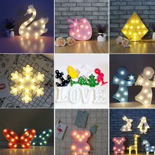 3D Swan LED Night Lights Party Props Kids Gifts Cute Animal Marquee Table Lamp Baby Children Room Decoration Bedroom Home Decor(China)