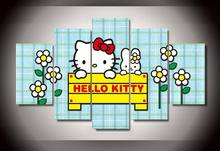 Framed Printed Cartoon hello kitty Group Painting wall art children's room decor print poster picture canvas/jjh178