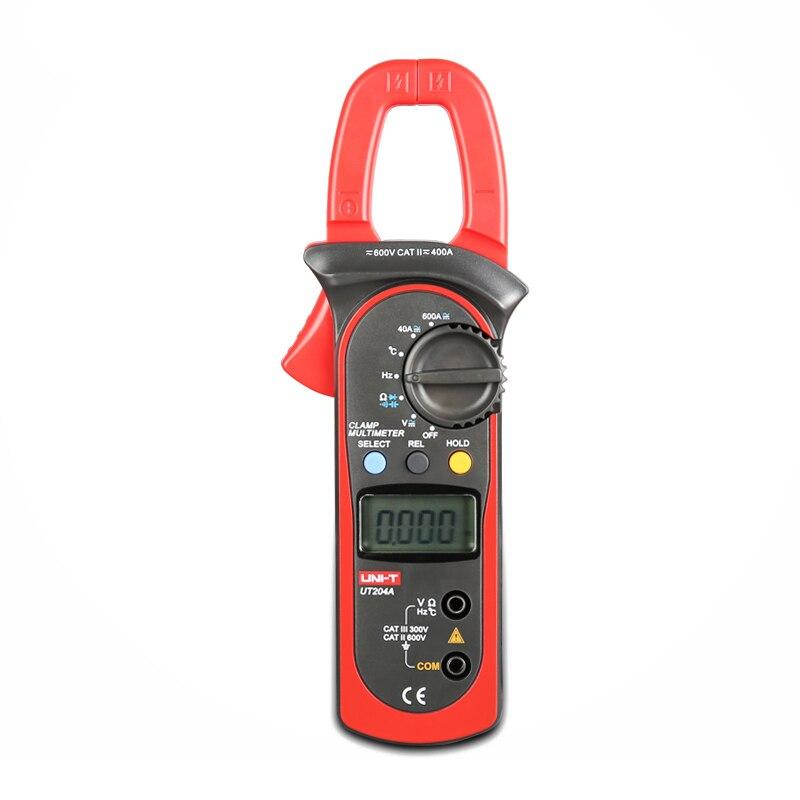 New Arrivals UT204A DC/AC Voltage Current Meter LCD Digital Only Auto Range Clamp Multimeter Capacitance Temperature Measurement<br><br>Aliexpress
