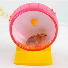 Funny Plastic Hamster Wheel Pet Toys Without Noise Small Animal Wheel Shelf Running Roller Jogging Exercise Sport Toys(China)