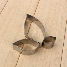 3PCS /Set Leaf Cut Outs Stainless Steel Fondant Cake Cookie Cutter Baking Mould Tool