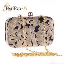 TenTop-A Hot Embroidered Evening Bags Lace Bridal Wedding Party Bag Smart Clutch Purse Mini Exquisite evening bags Drop Shipping