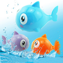 2017 Cute Fish Clockwork Toy For Boys Girls Swimming Tail Animal Wind Up Toys For Children Plastic Shark Kids Classic Toys(China)