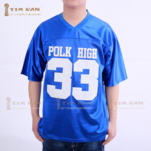 TIM VAN STEENBERGE Married With Children Al Bundy 33 Polk High American Football Jersey Stitched Sewn-Blue