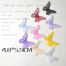 3pcs/lot Organza butterfly delicate Ornament Patches For Clothing Iron On Embroidered Appliques DIY Apparel Accessories Patches
