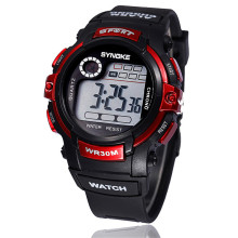 SYNOKE Cool Men's Watch Multifunction Boy Digital Large Dial LED Alarm Date Waterproof Sports Hours Outdoor Military Wrist Watch