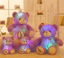 1 PC Large Luminous Plush Toy Teddy Bear LED Plush Toy Doll Pillows Kids Girls Birthday Valentine's Day Gift