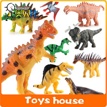 12pcs dinosaur toys dinosaur figures toys for boys zoo toys wild animals toys plastic animals(China)