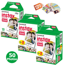 50 sheet Fujifilm Fuji Instax Mini 8 film for Fujifilm Instant Mini 7s 25 50s 90 Camera Fuji Instax White Edge Photo film Paper