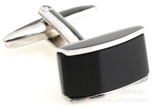 100pairs/lot [Factory] Black Onyx cufflinks square-end shirts deduction spot wholesale(China)