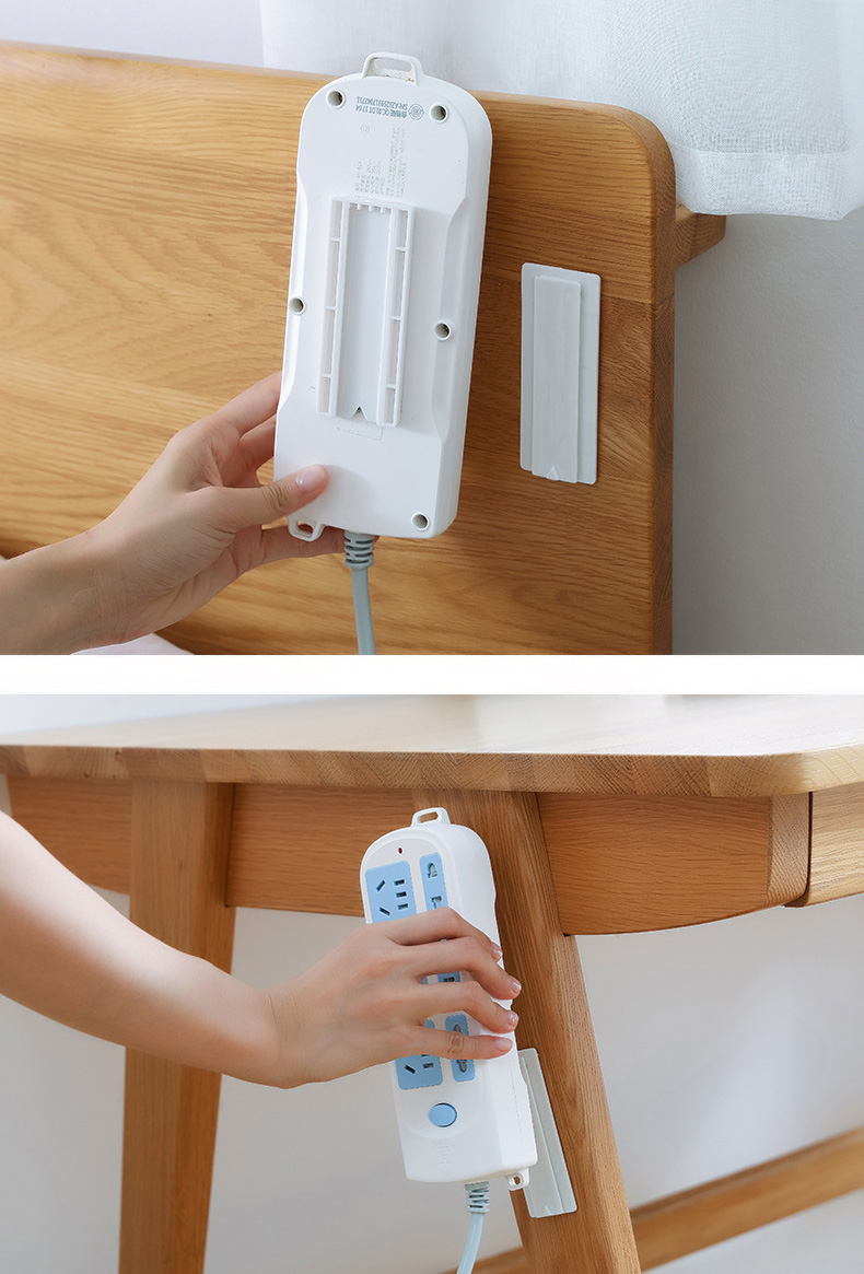 2 Stk Wand Tür Selbstklebendes Fernbedienung Aufkleber Halter Haken Aufhänger