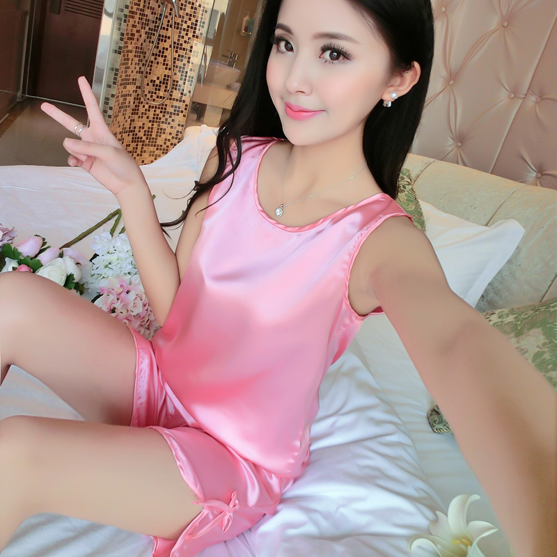 Sexy Women Real Silk Pajama Sets Sell Well Summer Style Luxury Sleepwear Hollow Out Deep V Lace Lingerie Women Nightwear Cami(China (Mainland))