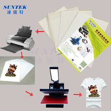 50pcs/Lot A4 size heat transfer paper for light color cotton garment thermo-transfer paper for heat press printing