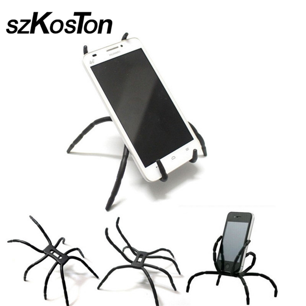 Flexible Spider Phone Holder Stand Support Universal Phone iPhone Xiaomi redmi Car Book Mobile Cell Phone Bicycle Holder Kit