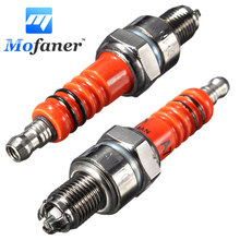 2PCS Scooter Motorcycle Racing 3 Electrode For Spark Plug For Engine GY6 50cc 150cc Rep C7HA C7HSA(China)