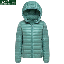 2017 New Brand 90% White Duck Down Jacket Women Autumn Winter Warm Coat Lady Ultralight Duck Down Jacket Female Windproof Parka(China)