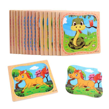 Cute Cartoon Animals Puzzle Board Wooden Jigsaw Puzzle Toys For Kids Children Education And Learning Puzzles Toys(China)