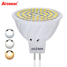 Ampoule LED MR16 12V 4W 6W 8W High Lumen Flicker-Free MR16 LED Diode Bulbs 110V 220V 36 54 72 LEDs SMD 2835 Chip Energy Saving(China)