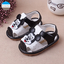 2017 Summer 0 to 15 months baby boy sandals non-slip soft bottom newborn toddler shoes cartoon infant casual sport shoes(China)