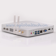 Low Cost Network Computer with Intel Celeron 1037U Fanless Mini PC HM77 USB3.0/2.0 VGA HDMI RJ45 Port Mini UMPC 4G RAM 64G SSD