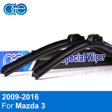 Oge Front And Rear Wiper Blades For Mazda 3 2009-2016 Windscreen Wipers High Quality Rubber Car Accessories(China)