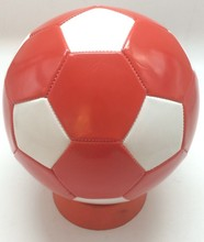 1.8mm Pvc material soccer ball football size 5 training balls about 315g red and white color lower price(China)