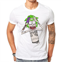Newest Casual T shirt Men Rick And Morty Funny Man T-shirt White Cotton Short Sleeve Tops Pocket Tee Hipster Clothing JR14