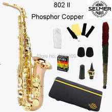 Free shipping EMS France Selmer Alto Saxophone 802II Professional E Phosphor Copper Sax mouthpiece With Case and Accessories