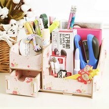 Hoomall Handmade Wooden Storage Box For Jewelry Makeup Container Box Case DIY Cosmetic Organizer For Office