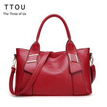 TTOU Women Leather Handbags Famous Brand Women Shoulder Bags Big Bolsos Mujer Fashion to Carry with New Style 6 Colors Available(China)