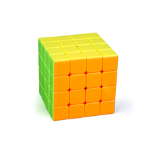 4*4*4The Latest No Stickers Regular Solid Color Speed Neo Cube Classic Spinner Toy Suitable Square Puzzle Educationa Magic Cube