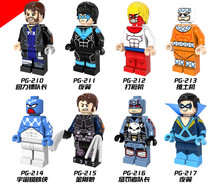 8pcs PG8058 Building Blocks Captain boomerang Punisher ninghwing space spiderman Marvel Super Heroes BricksGifts Toys