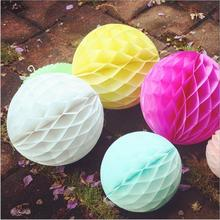 20pcs 6inch Tissue Paper Flower ball Honeycomb lanterns Wedding decoration Birthday Party suppliers for child Wholesale(China)