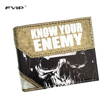 FVIP Free Shipping Hot Game Wallet Call of Duty /Mass Effect/LOL Timor With Coin Pocket New Design Coin Purse For Men and Women