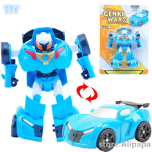 2colors Toboly transformation Robocar cars toy 14cm Korea cartoon animation Robot vehicle toys for children best gifts free ship