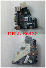 Free shipping genuine original laptop USB  audio board network board for Dell Latitude E6430 USB card board LS-7782p CN-04J7P5