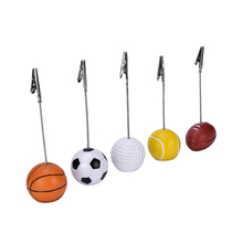 Football Soccer Ball Shape Metal Memo Paper Clips for Message Decoration Photo Office Supplies Accessories(China)