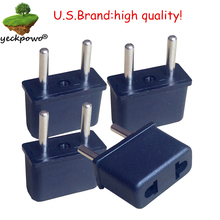 U.S.Brand high quality! 4 pcs US to EU Plug adaptor plug convertor plug adaptor Travel Adapter US to EU power plug convertor