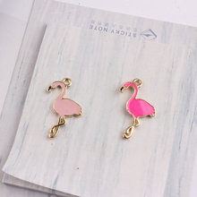 50PCS Animal Bird Flamingo Enamel Alloy Charms DIY Jewelry Findings Ornament Accessories Oil Drop Metal Bracelet Chain Charm