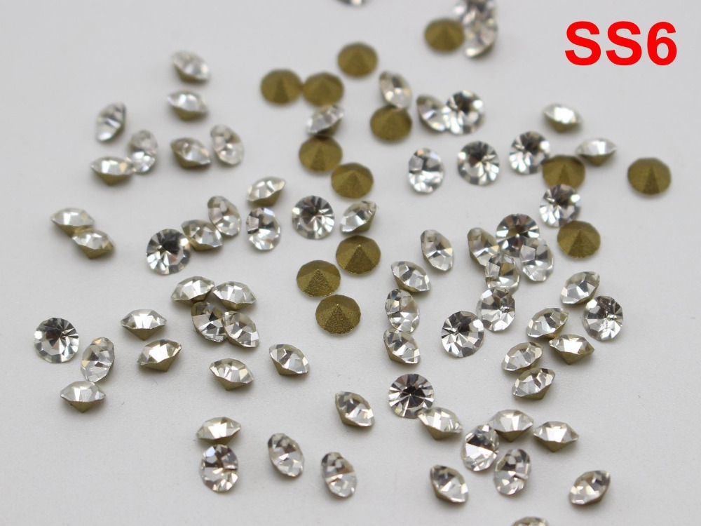 Jewelry & Accessories Clear White Ss8 Point Back Rhinestones Gems Glass Chatons Strass Nail Art Craft Gems