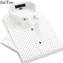 Buy JeeToo 2018 Brand Mens Shirts Short Sleeve White Mens Dress Shirts Slim Fit Men Formal Shirt Cotton Casual Shirt Chemise Homme for $19.17 in AliExpress store