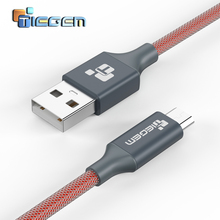 TIEGEM 5V2A Micro USB Charger Nylon Braided Wire USB Charger Sync Data Cable for Samsung Galaxy Xiaomi HTC Sony Cell Phones